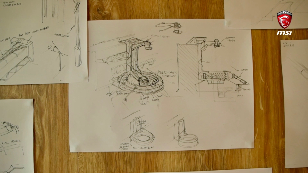 Concept drawing used for MSI Electric City VR Experience