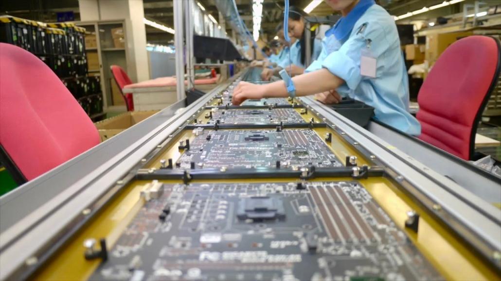 Gigabyte Black Edition assembly line