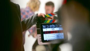 Clap on a video production set