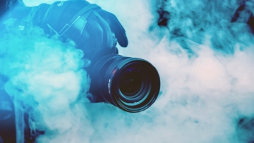 Video special effects using smoke